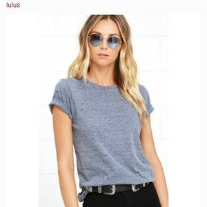 Lulu's In the Raw Distressed t-shirt